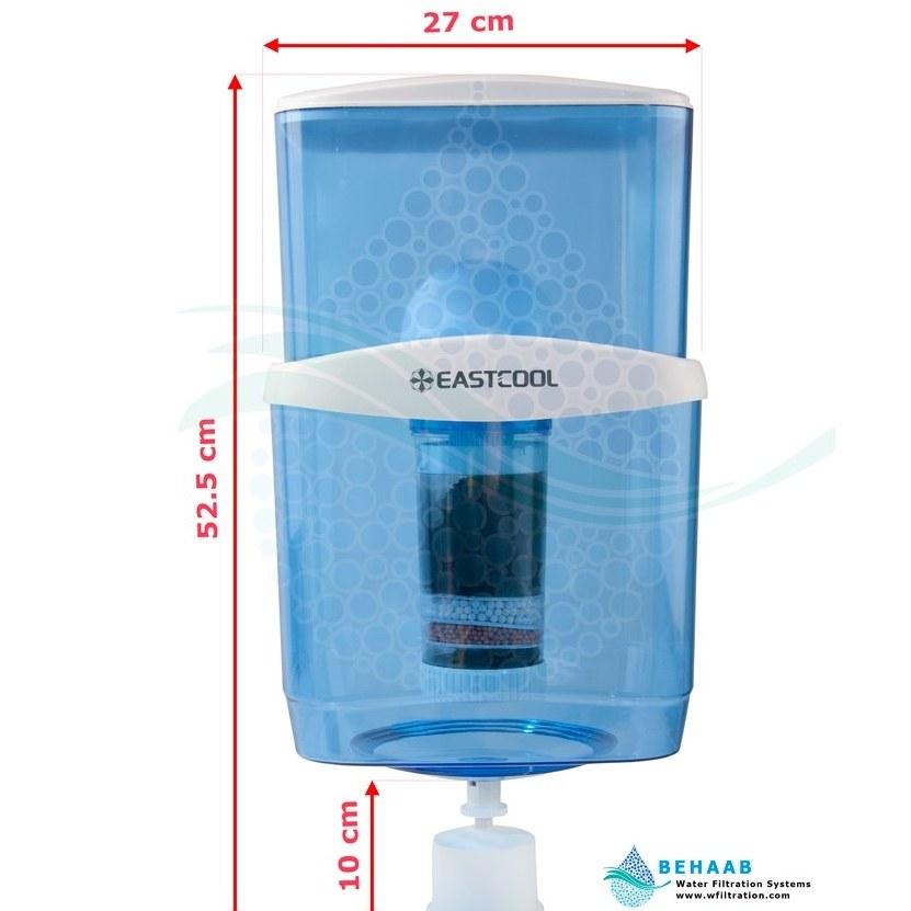 تصویر مخزن آبسردکن تصفیه دار ایستکول  TM-P22 EASTCOOL Water Filtration System for Top-Load Water Dispensers