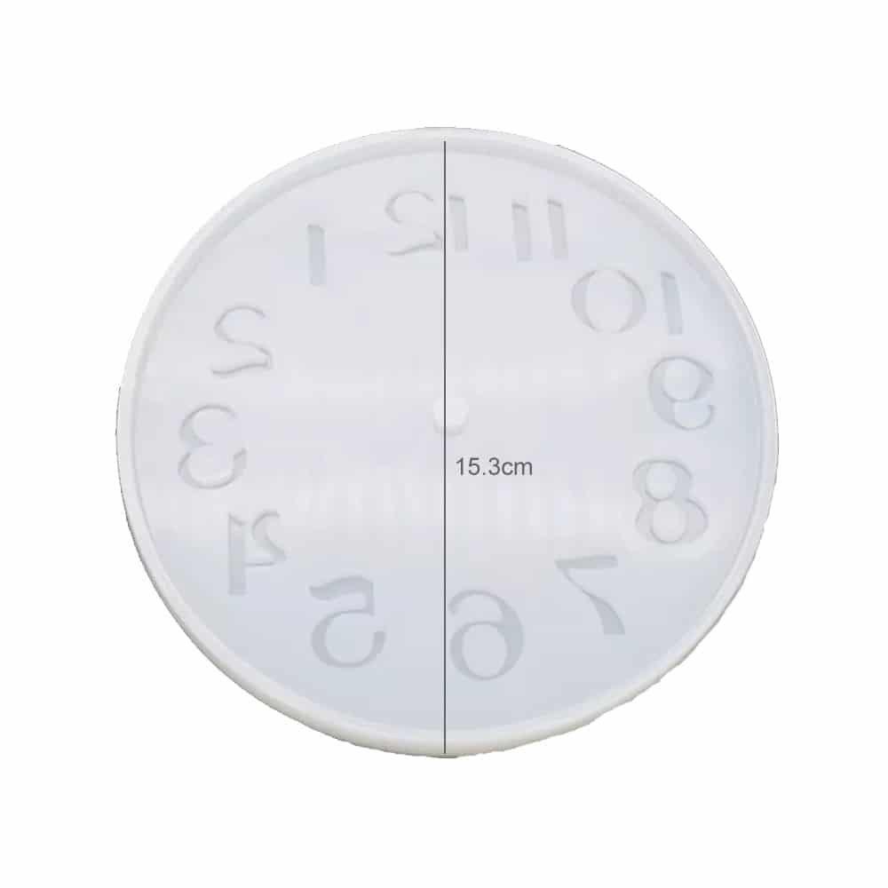 قالب سیلیکونی رزین ساعت قطر 15 سانتی متر
