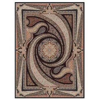 فرش ماشینی طرح کهکشان زمینه سرمه ای |