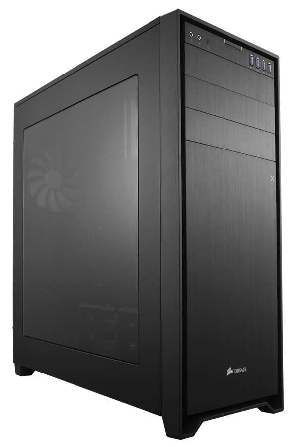 تصویر کیس کورسیر ابسیدین مدل 750 دی کیس Case کورسیر Obsidian 750D Black Aluminum / Steel ATX Full Tower Computer Case
