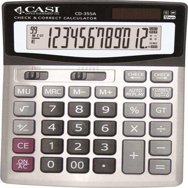 تصویر ماشین حساب کاسی مدل سی دی 355 ای ماشین حساب کاسی CD-355A Calculator
