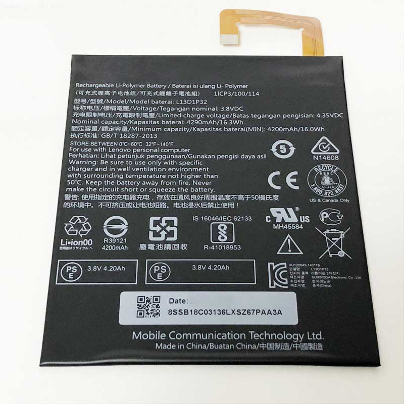 تصویر باتری اصلی لنوو Lenovo Tab S8