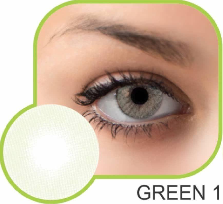 تصویر لنز رنگی گلامور سری سبز green 01