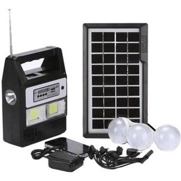 تصویر پکیج خورشیدی روشنایی،رادیو و شارژر