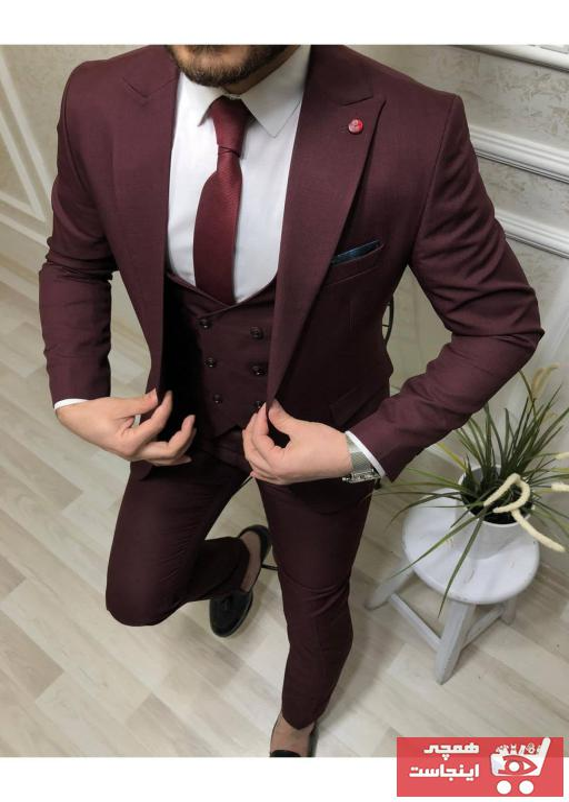 تصویر خرید کت شلوار مردانه اصل برند Dacfashion رنگ زرشکی ty97164846