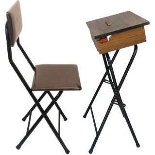 میز و صندلی تاشو نماز مدل یاس 110 باکس دار قهوه ای روشن  