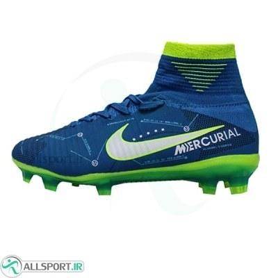 کفش فوتبال بچه گانه نایک مرکوریال نیمار طرح اصلی آبی Nike Mercurial Neymar