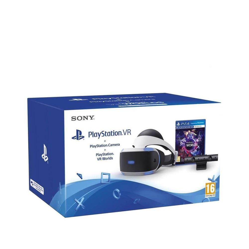 عينک واقعيت مجازی PlayStation VR به همراه دوربین باندل Worlds
