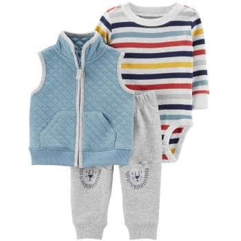 ست 3 تکه لباس نوزادی پسرانه کد 1111  