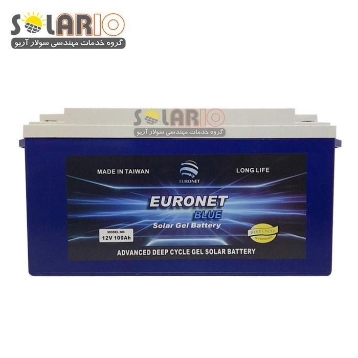 تصویر باطری خورشیدی ۱۰۰ آمپر ۱۲ ولت دیپ سایکل ژل Euronet