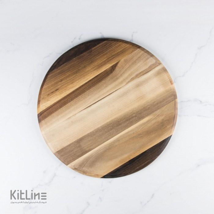 تصویر تخته سرو چوبی گرد قطر ۳۳ سانتیمتر