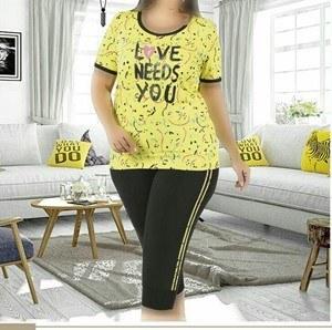 تی شرت شلوارک سایز بزرگ زنانه ترک - 7460 Miss Tiko |