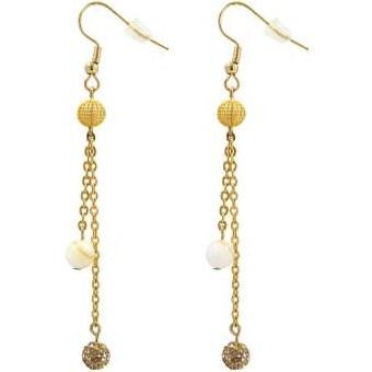 گوشواره طلا 18 عیار زنانه مانچو مدل efg002 | Mancho EFG002 18 k Gold Earing For Woman