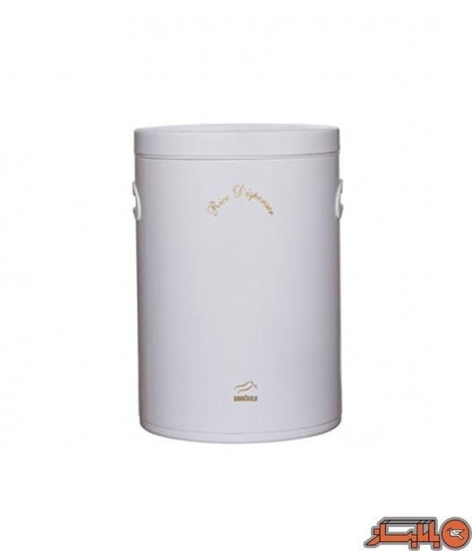 تصویر سطل برنج بدون پیمانه سفید براق در فلزی بهاز