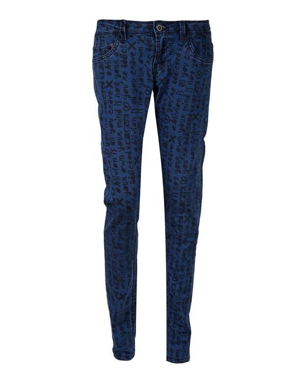 شلوار جین طرح دار زنانه Terranova