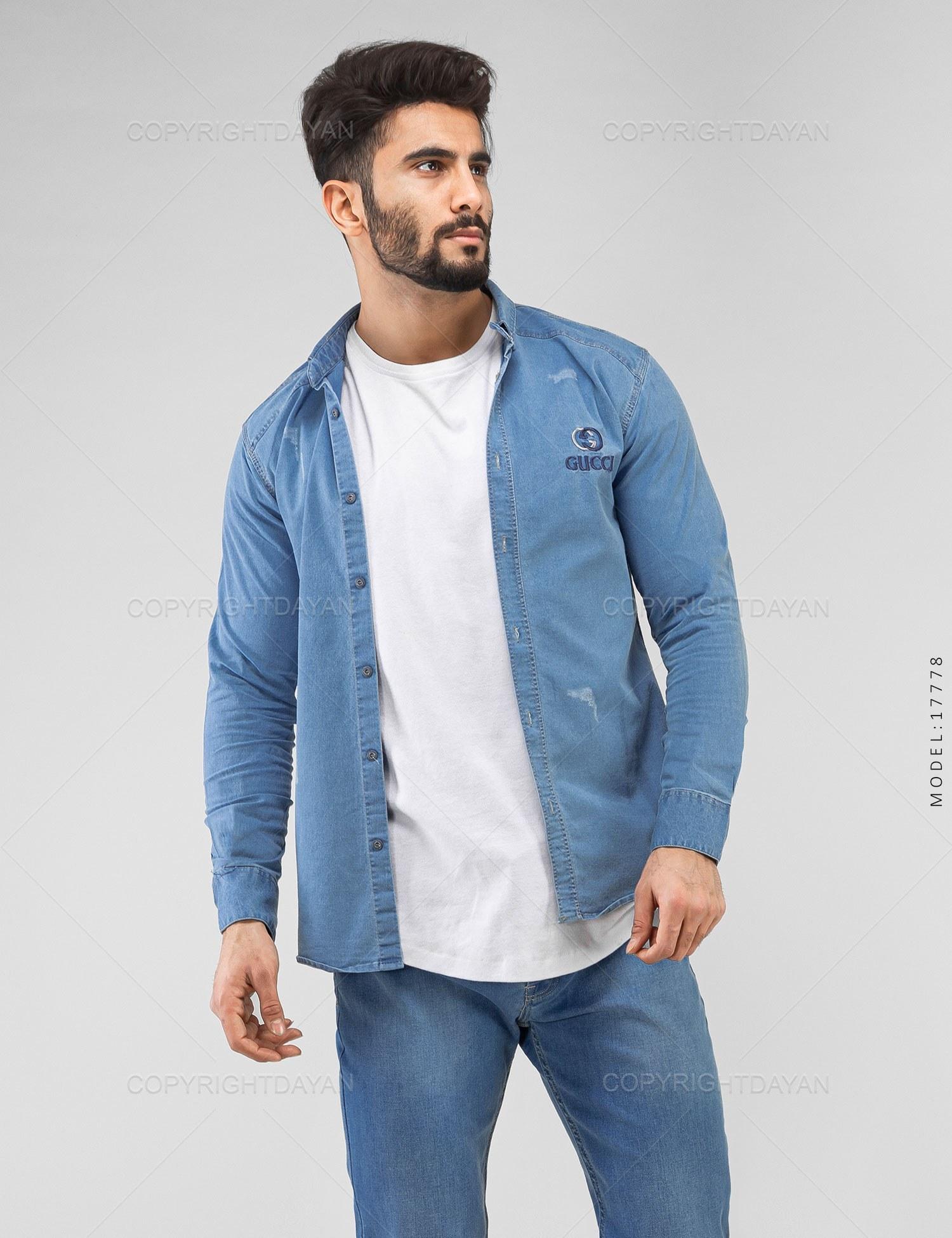 پیراهن مردانه Gucci مدل 17778