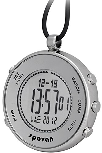main images Spovan Silver Digital Pocket Watches Hiking Altimeter Barometer Compass Spovan Silver Digital Pocket Watches Hiking Altimeter Barometer Compass