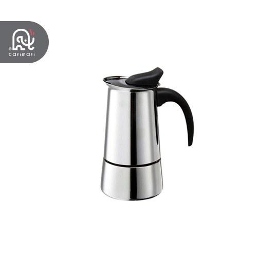 تصویر اسپرسوساز استیل فلاسکی مدل 4 کاپ Espresso Maker 4 cups steel