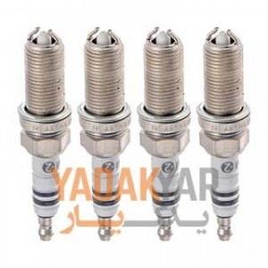 شمع لیزری پایه بلند پلاتینیوم بوش خودرو پژو 405 SLX با موتور TU5 مدل Plus2 کد 4316 بسته 4 عددی Bosch