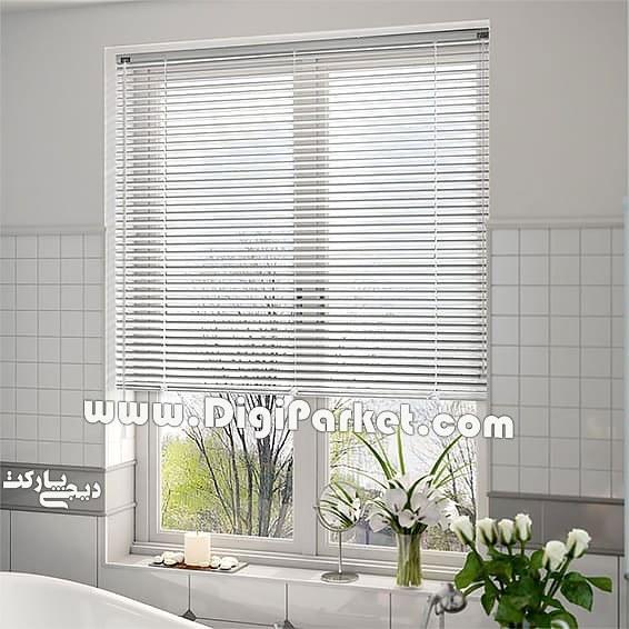 تصویر پرده کرکره فلزی سفید ساده ۱۶ میلیمتری P01