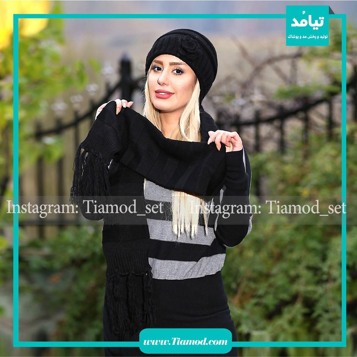 عکس ست شال و کلاه زنانه کد 421  ست-شال-و-کلاه-زنانه-کد-421