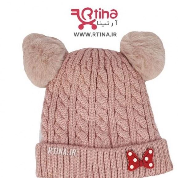 کلاه بافتنی نوزاد دخترانه مدل D44