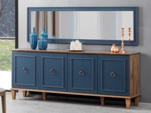 تصویر میز کنسول کلاسیک و آینه