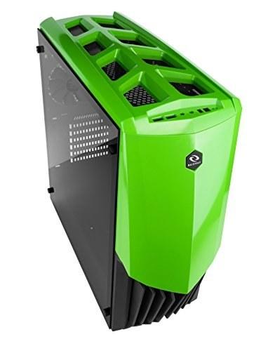 main images کیس خنک کننده مایع خنک کننده مایع Raidmax GAMA PC با پنجره شیشه ای خفیف (سبز)