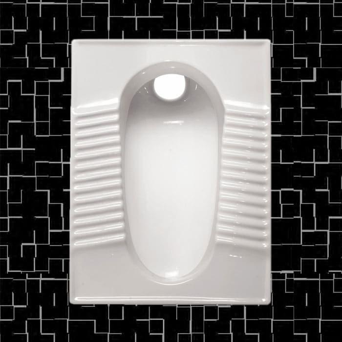 تصویر توالت زمینی مروارید مدل مدل فیروزه گود و تخت - توالت ایرانی فیروزه