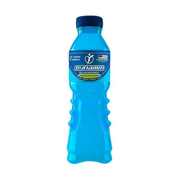 تصویر نوشیدنی ویتامینه ورزشی داینامین طعم بلوبری مقدار 500 میلی لیتر