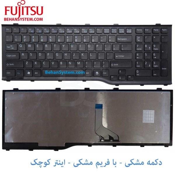 main images کیبورد لپ تاپ Fujitsu Siemens مدل AH532 به همراه لیبل کیبورد فارسی جدا گانه