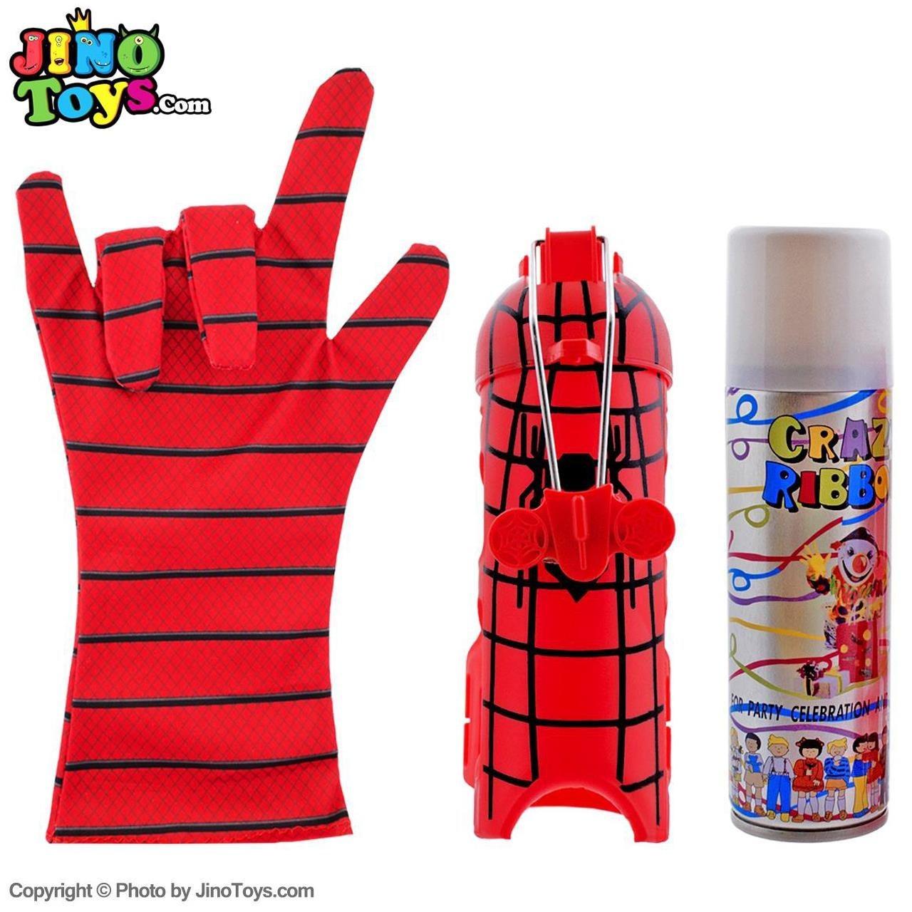 ست اسباب بازی پرتاب تار مرد عنکبوتی کد 733250 مجموعه 3 عددی