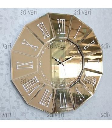 ساعت دیواری ونیزی طرح عقیق (برنزی) |