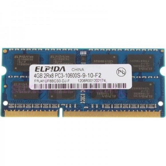 رم لپ تاپ Elpida DDR3 1333 MHz PC3 10600S با ظرفیت 4GB | Elpida 4GB Memory DDR3 1333 MHz PC3 10600S