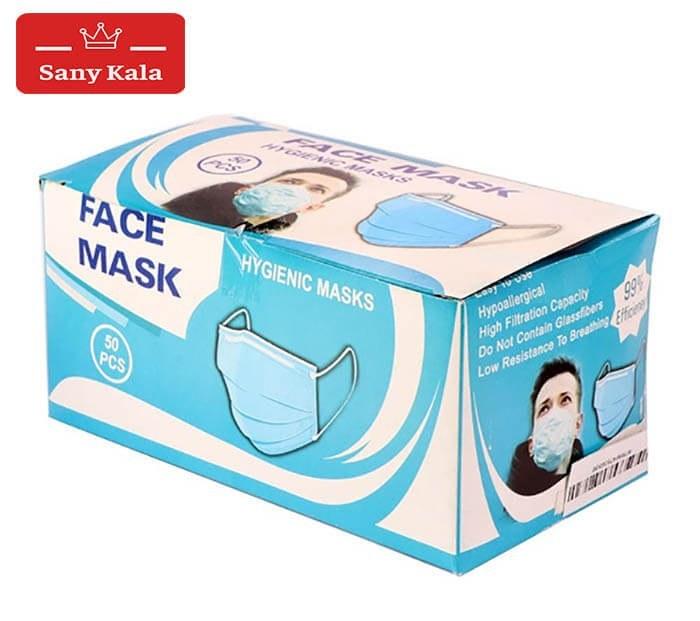 عکس ماسک تنفسی سه لایه بسته 50 عددی 3ply Construction Face Mask 50 Pcs ماسک-تنفسی-سه-لایه-بسته-50-عددی