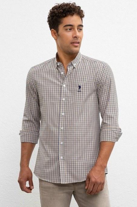 پیراهن آستین بلند پولو با کد 50221378-VR027   پیراهن آستین بلند مردانه پولو