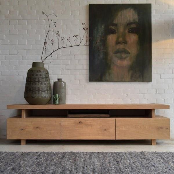 میز تلویزیون چوبی میامی