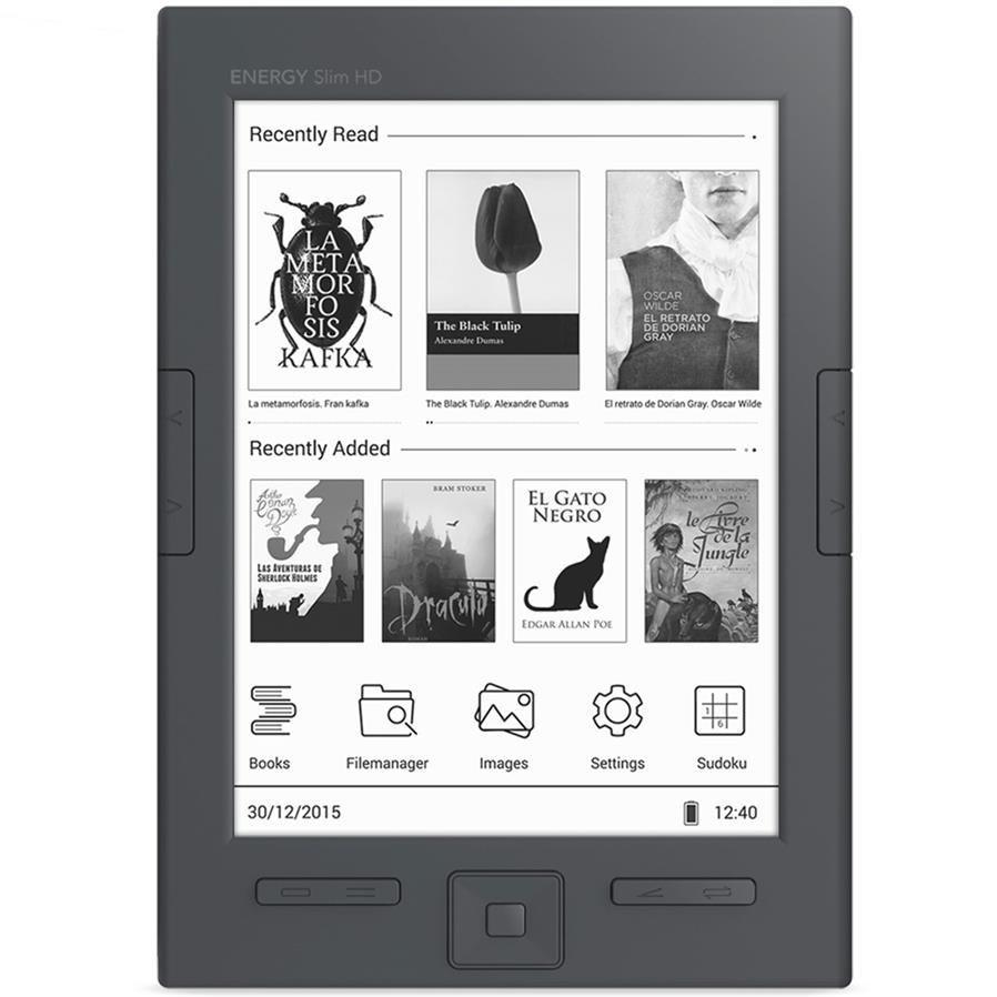 تصویر کتاب خوان انرژی سیستم مدل انرژی ریدر اسلیم اچ دی با ظرفیت 8 گیگابایت کتاب خوان انرژی سیستم Energy Ereader Slim HD 8GB E-reader