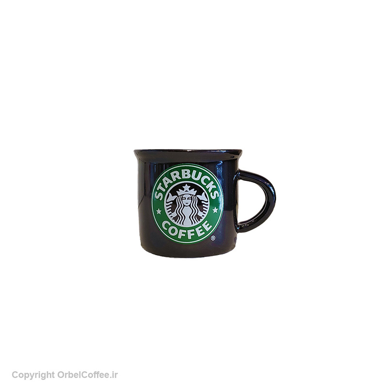 تصویر فنجان سرامیکی قهوه استارباکس مشکی 6 عدد