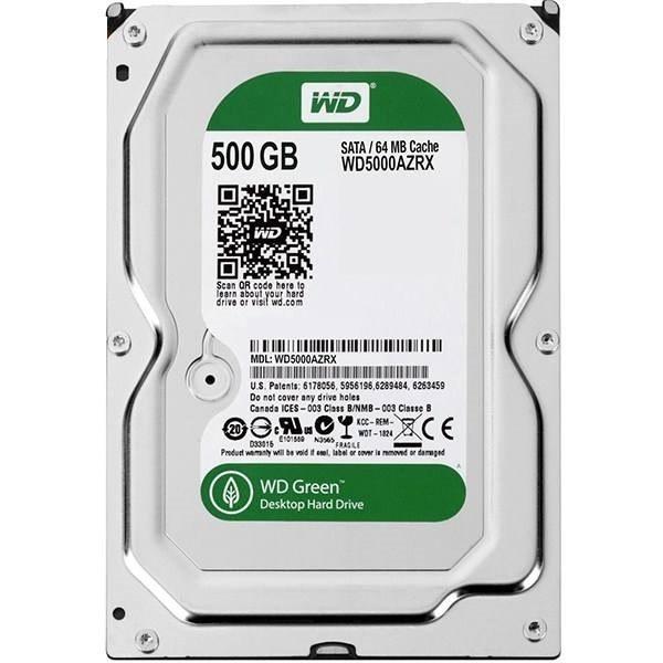 تصویر هارد اینترنال وسترن دیجیتال GREEN WD10EURX 500GB Western Digital GREEN WD10EURX 500GB HDD
