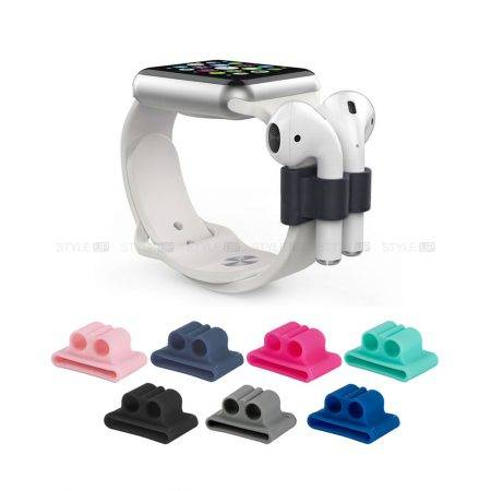 نگهدارنده ایرپاد مناسب ساعت هوشمند Airpods Watch Band Holder | Apple Airpods Silicone Watch Band Holder