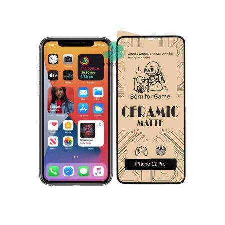 main images گلس سرامیکی مات گوشی اپل آیفون Apple iPhone 12 Pro Matte Ceramic Film 9D Screen Protector for Apple iPhone 12 Pro