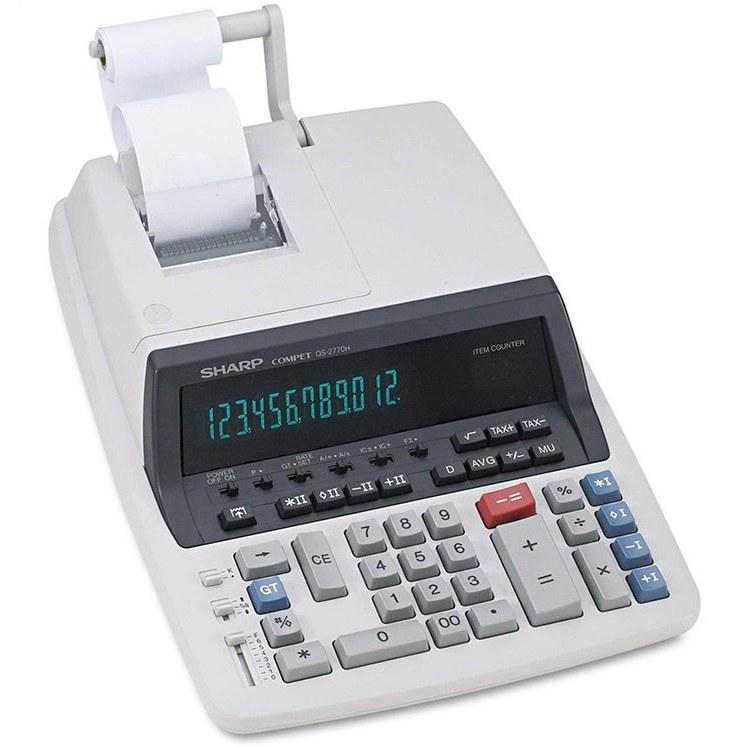 تصویر ماشین حساب رومیزی با چاپگر مدل QS2770H شارپ Desktop calculator with Sharp QS2770H printer