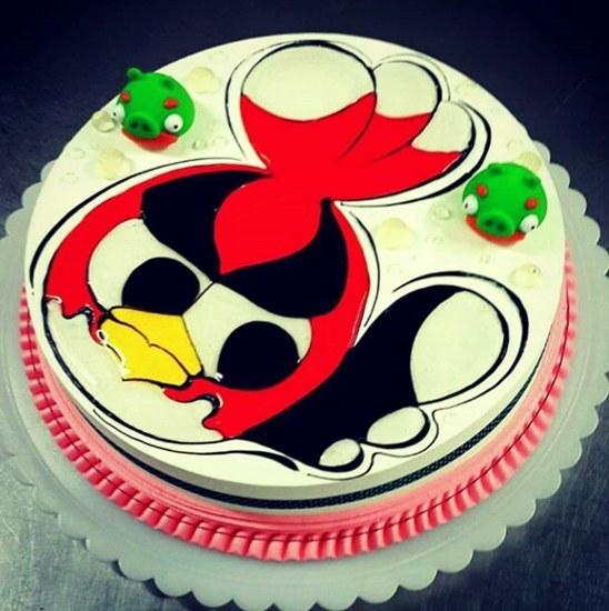 تصویر کیک تولد انگری بردز 4 کیلویی