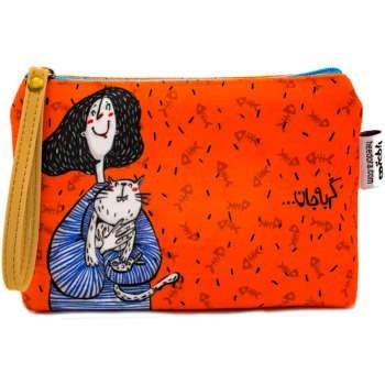 کیف لوازم آرایش هیدورا طرح گربه جان |