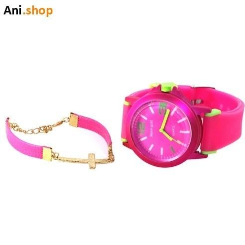 تصویر ست ساعت و دستبند اسپرت دخترانه والار کدB19
