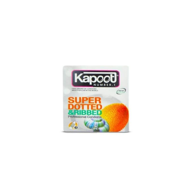 کاندوم خاردار کاپوت 3 عددی مدل Super Dotted & Ribbed