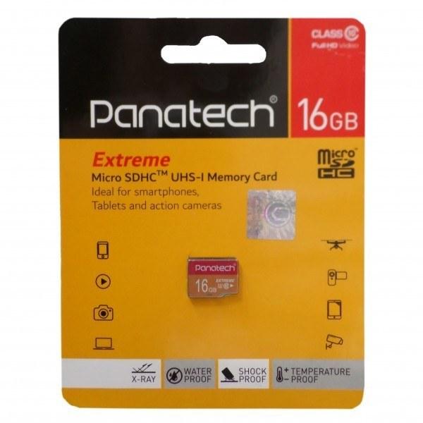 تصویر کارت حافظه microSDHC پاناتک کلاس 10 استاندارد سرعت 30MBps ظرفیت 16 گیگابایت Panatech MicroSD Class 10 30MBps 16GB