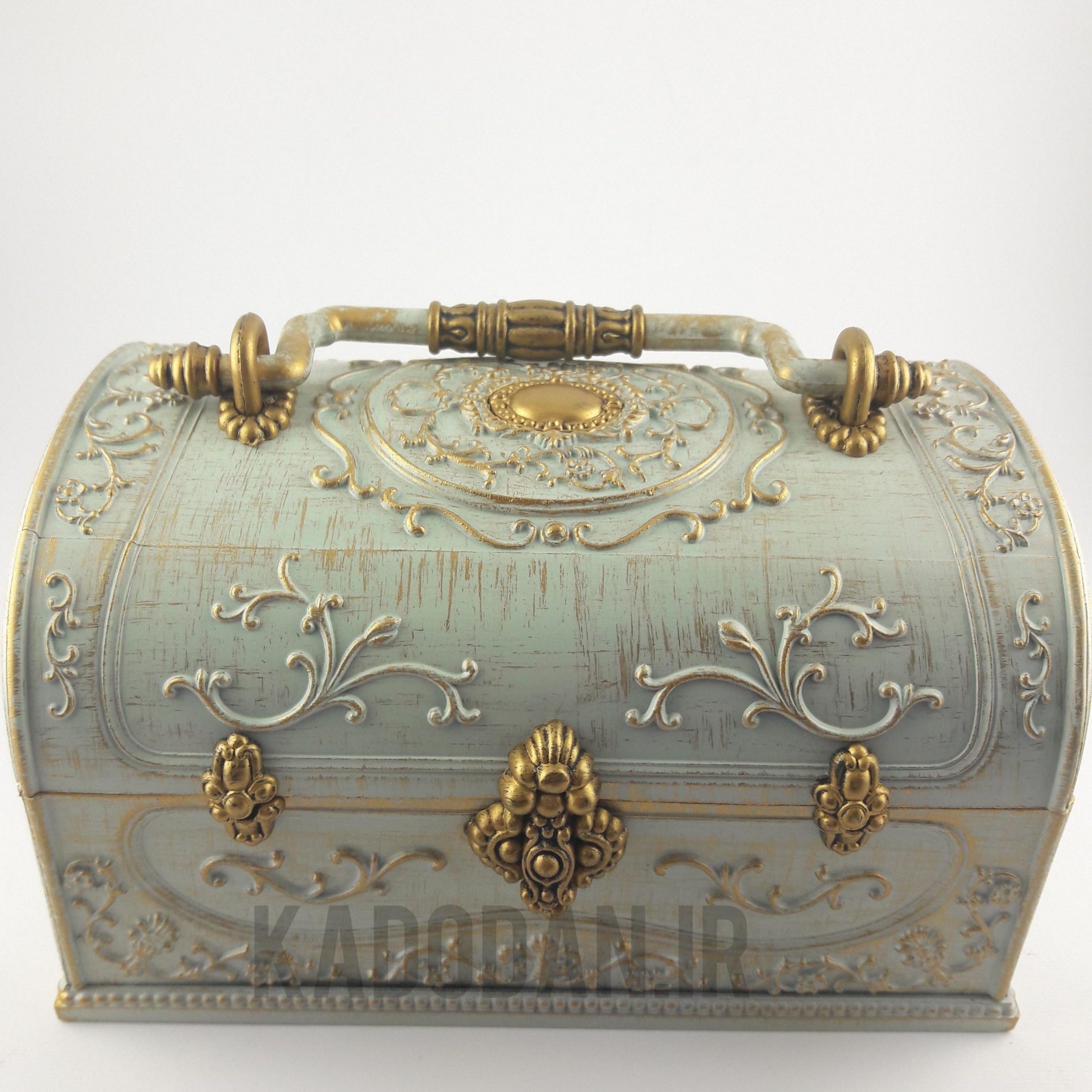 تصویر جعبه جواهرات موزیکال مدل صندوقچه کد  6963