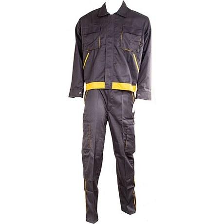 لباس كار دو تکه فلامنت ويسکوز مدل ابزارسرا طوسي/زرد- سايزXL | Abzarsara Work wear Size XL